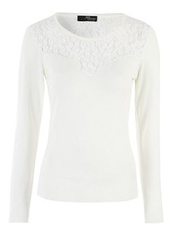 Ivory Lace Panel Jumper
