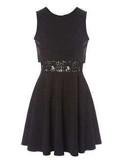 Jane Norman Double Layer Lace Skater Dress