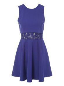 Double Layer Lace Skater Dress