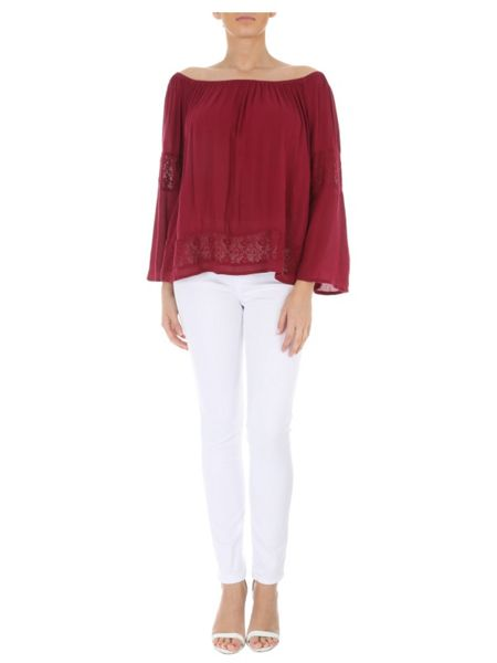 Jane Norman Crochet Gypsy Top