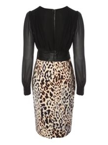 Fitted Leopard Top & Skirt Dress