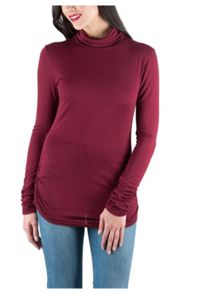 Jane Norman Long Sleeve Turtle Neck Jersey Top