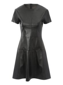 Jane Norman PU Trumpet Hem Dress