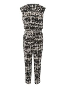 Printed Wrap Jumpsuit