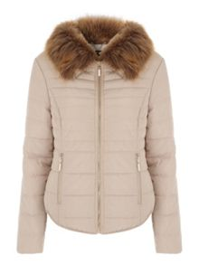Jane Norman Fur Collar Short Padded Coat