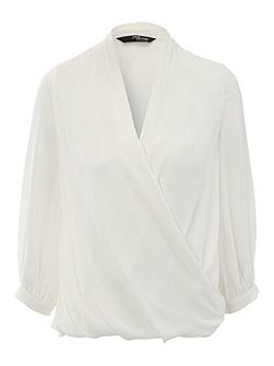 Jane Norman Ivory Cocoon Blouse Top