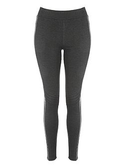 PU Panel Moto Legging