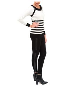 Jane Norman PU Panel Moto Legging