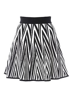 Knitted Chevron Skirt