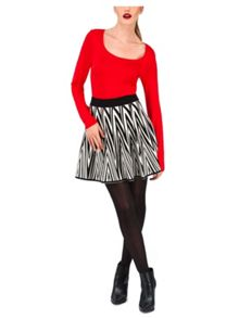 Jane Norman Knitted Chevron Skirt