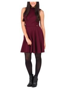 Jane Norman High Neck Skater Dress