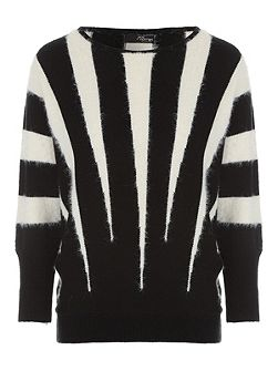 Black & White Vertical Stripe Jumper