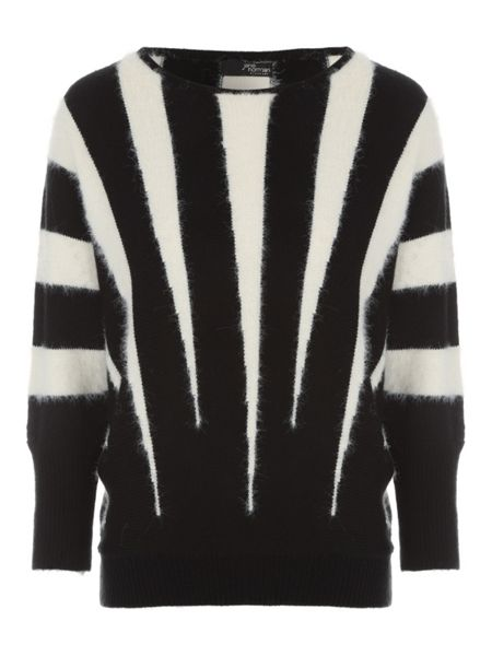Jane Norman Black & White Vertical Stripe Jumper