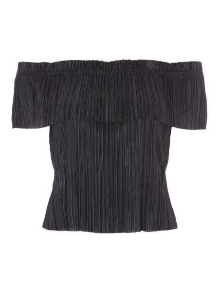 Jane Norman Textured Bardot Top