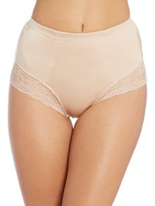 Genevieve control brief with lace
