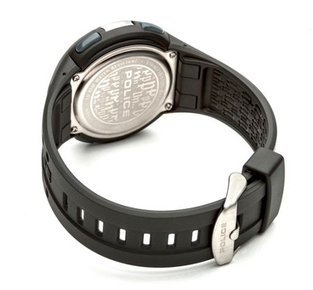 Police Gents Cyberlite black strap watch