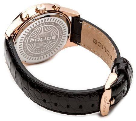 Police Gents Ohio  black strap watch