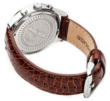 Police Gents Ohio  brown strap watch