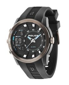 Police Gents Tactical black strap watch