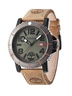 Gents Hyland brown strap watch