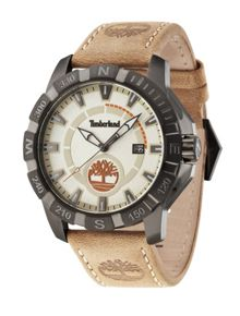 Gents Harling beige  strap watch