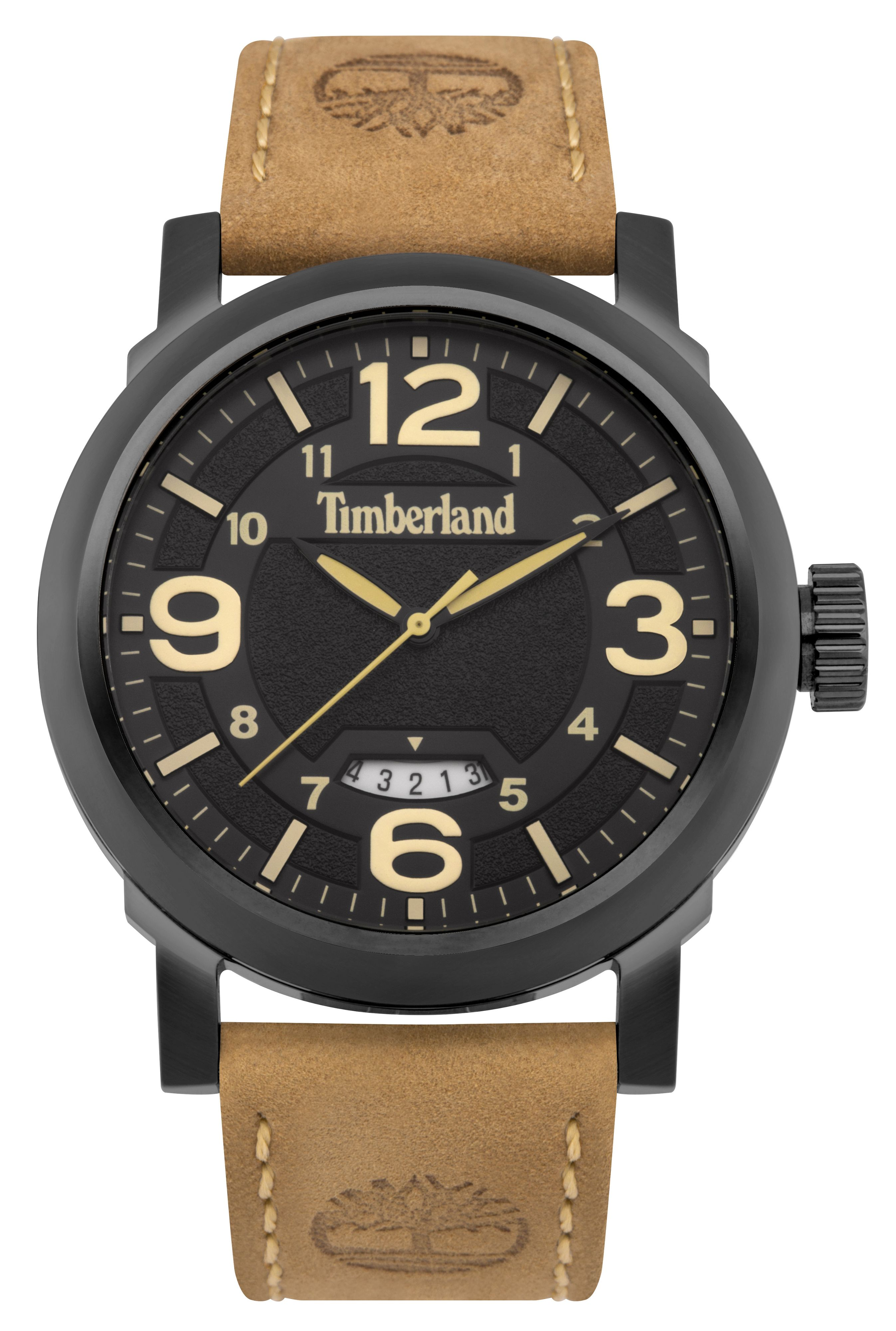Timberland Gents brown leather strap watch Brown