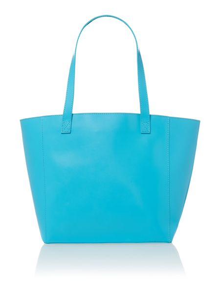 Paper Thinks Blue large leather tote bag