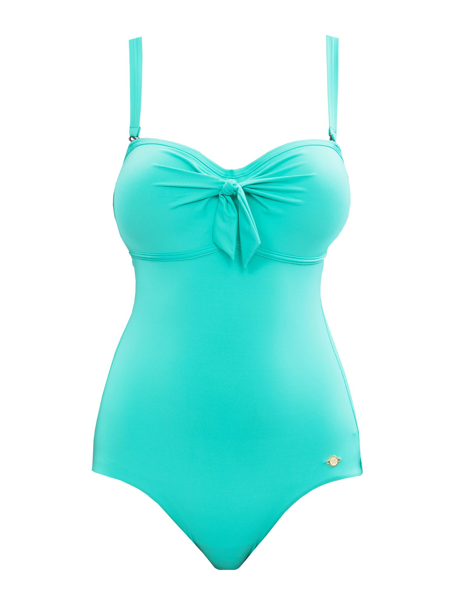 SUNSEEKER Solid black cup sized swimsuit, Green