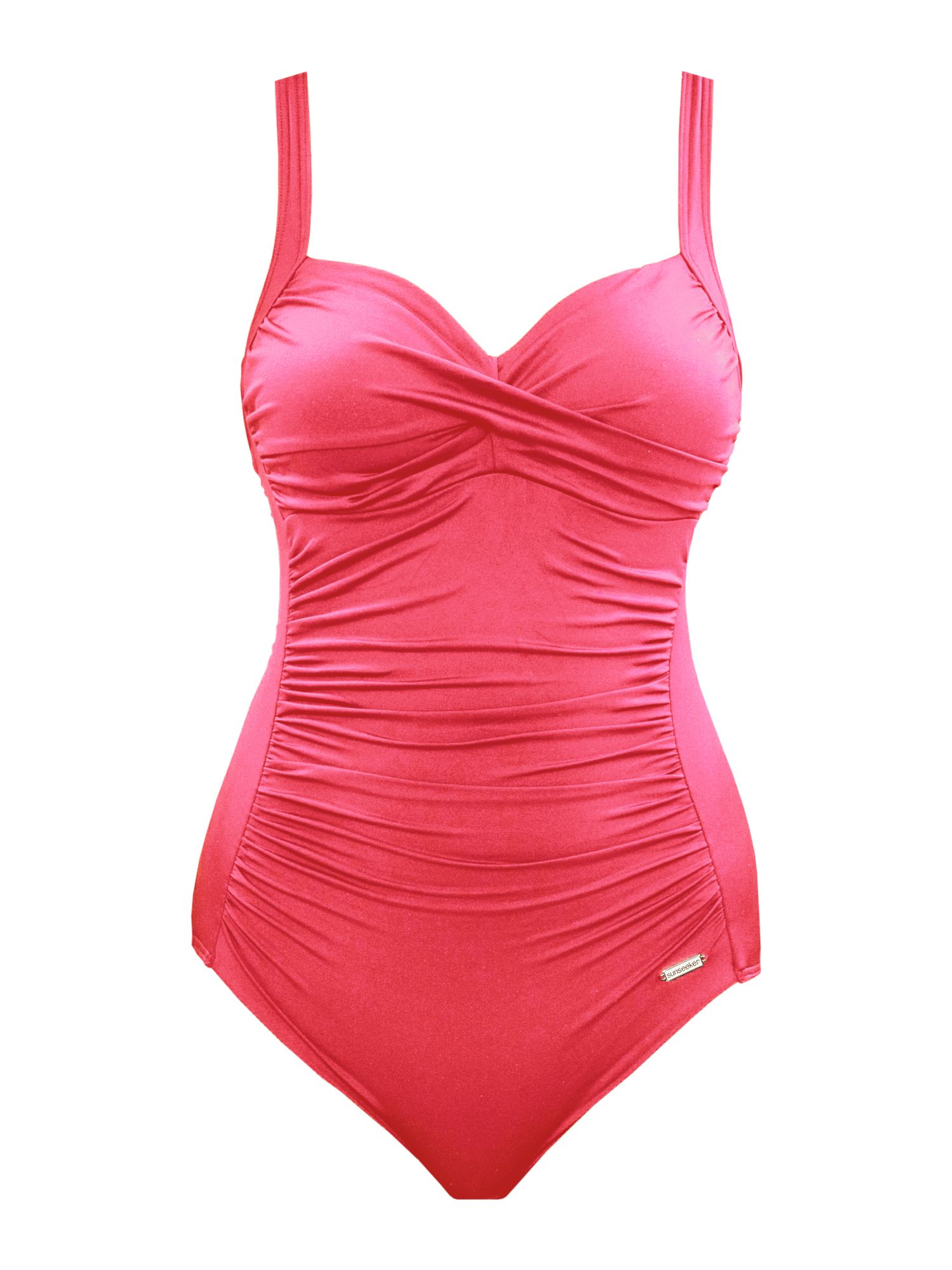 Sunseeker solid rouge cup sized classic swimsuit red for Quality classic house of fraser