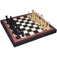 Classic wooden foldable chess set