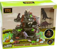 Toy Hero Dinosaur Volcano Playset - 27 Pieces