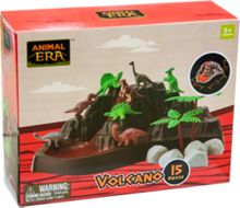 Dinosaur Volcano Playset - 15 Pieces