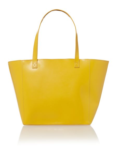 Paper Thinks Yellow leather large tote bag