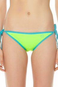 Neoprene tie side bikini bottom