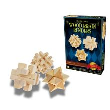 Classic game wooden brain benders