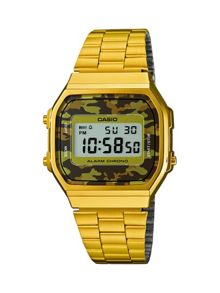 Casio A168WEGC-5EF Unisex Gold Bracelet Watch