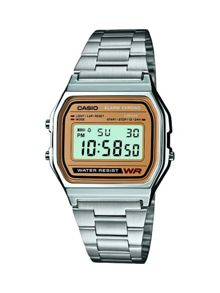Casio A158WEA-9EF retro silver watch
