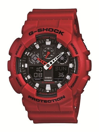 G-Shock GA-100B-4AER red sports mens watch
