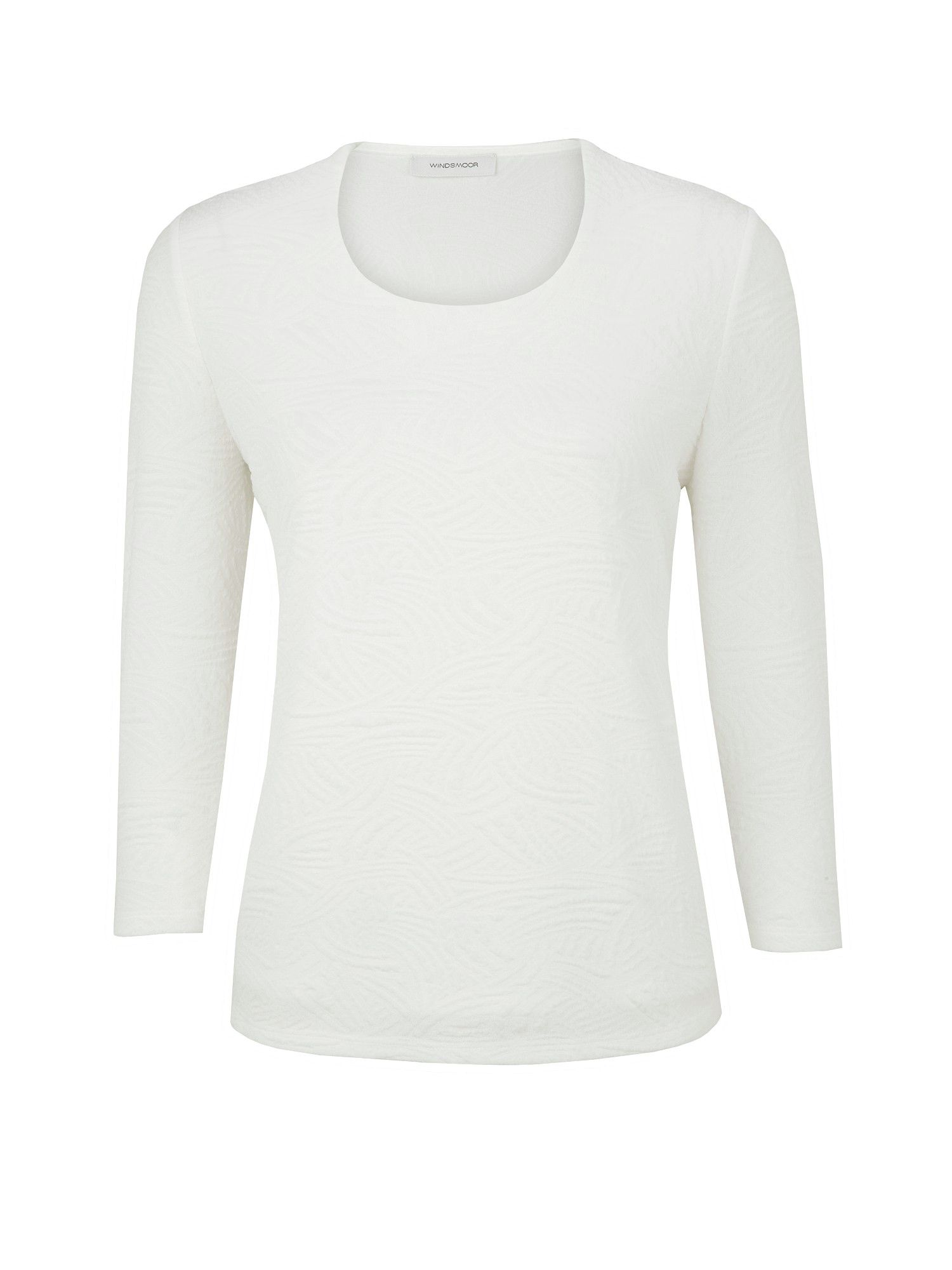 White ripple jersey top