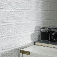 Graham & Brown White brick wallpaper