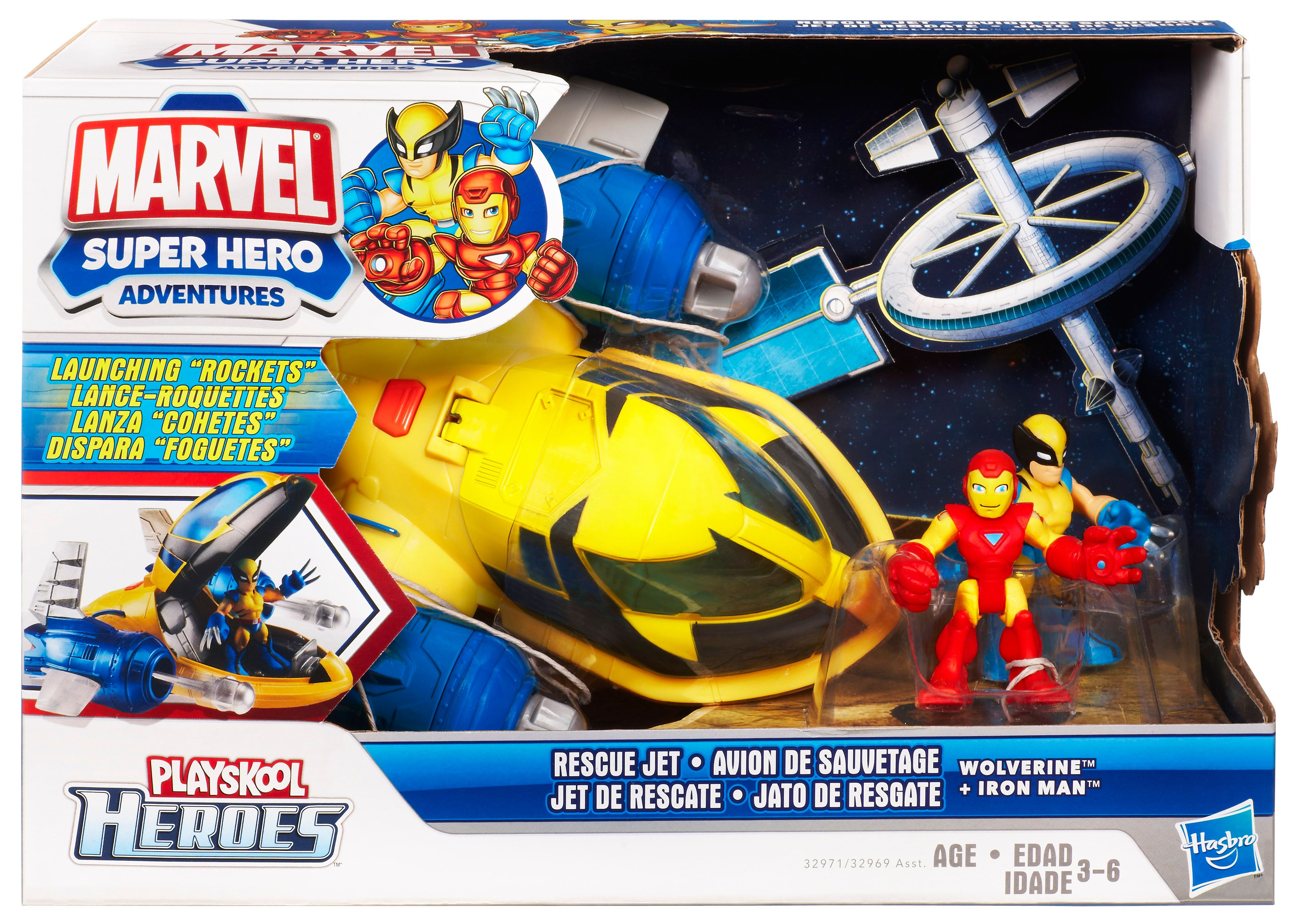 Rescue jet Wolverine & Iron Man