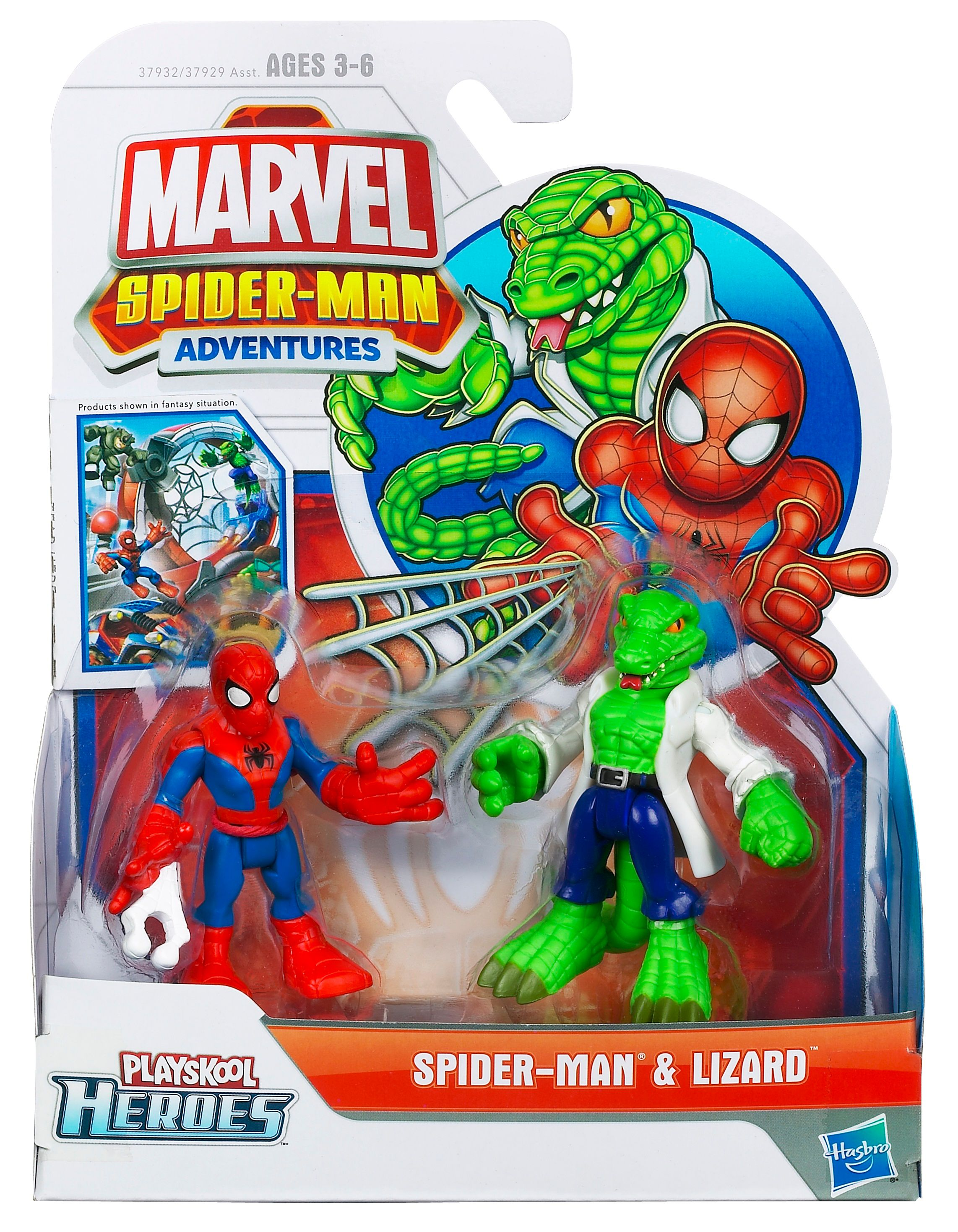 Spiderman & Lizard Playskool Heroes