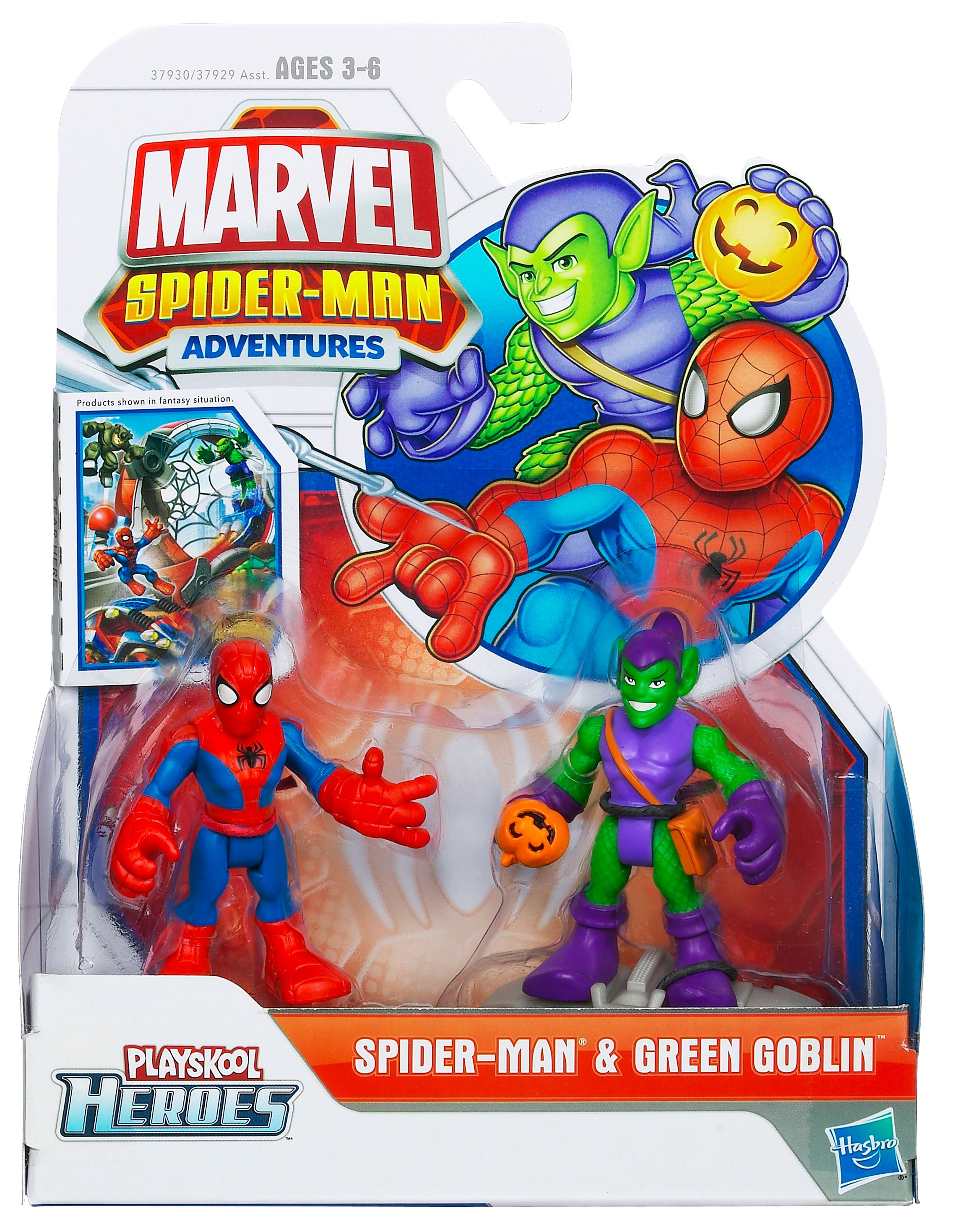 Spiderman & Green Goblin figure
