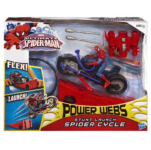 Ultimate Spiderman Power Webs Spider Cycle