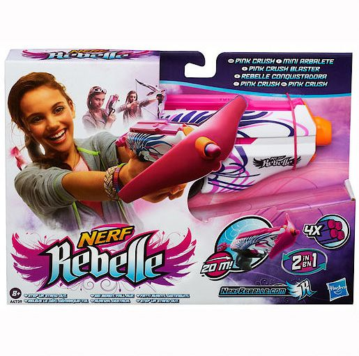 Nerf Rebelle Pink Crush mini crossbow