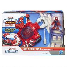 Playskool Web Strike Tank with Spider-Man Figure
