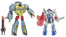 Silver Night Optimus Prime & Grimlock