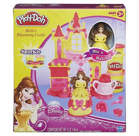 Play Doh Disney princess belle`s blooming castle