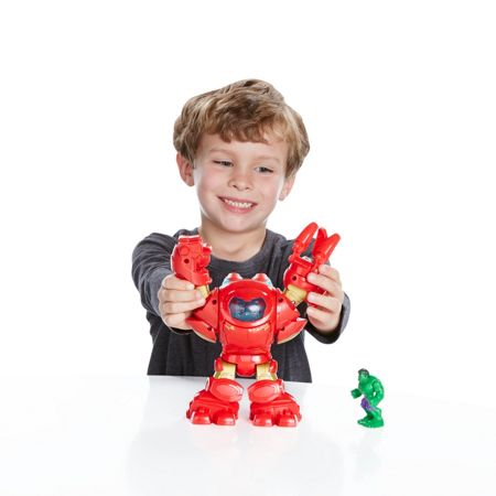 Playskool Stark tech armor with tony stark figure