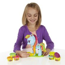 Rainbow dash style salon playset